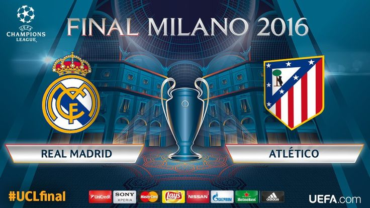 """Champions League on Twitter: """"Real Madrid will play Atlético in the #UCLfinal in Milan on Saturday 28 May. We can't wait... https://t.co/kNMRF0y2WO"""""""