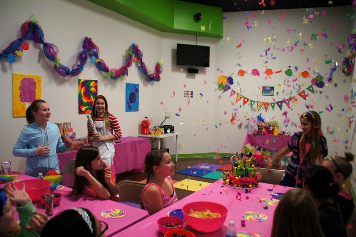 Candy Land Party at Confetti Monkey.  We celebrated the birthday girl with lots of confetti!