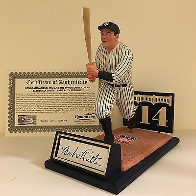 Romito inc. extremely limited Babe Ruth Cooperstown Collection figurine