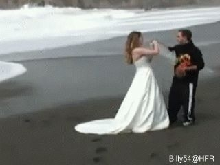 This would be my luck if I ever had a beach wedding