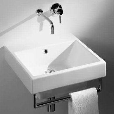 Ceramica Catalano | Zero 50 Wash Basin with Chrome Towel Rail | Wash Basins | Share Design | Home, Interior Design, Architecture, Design Ideas & Design Inspiration Blog