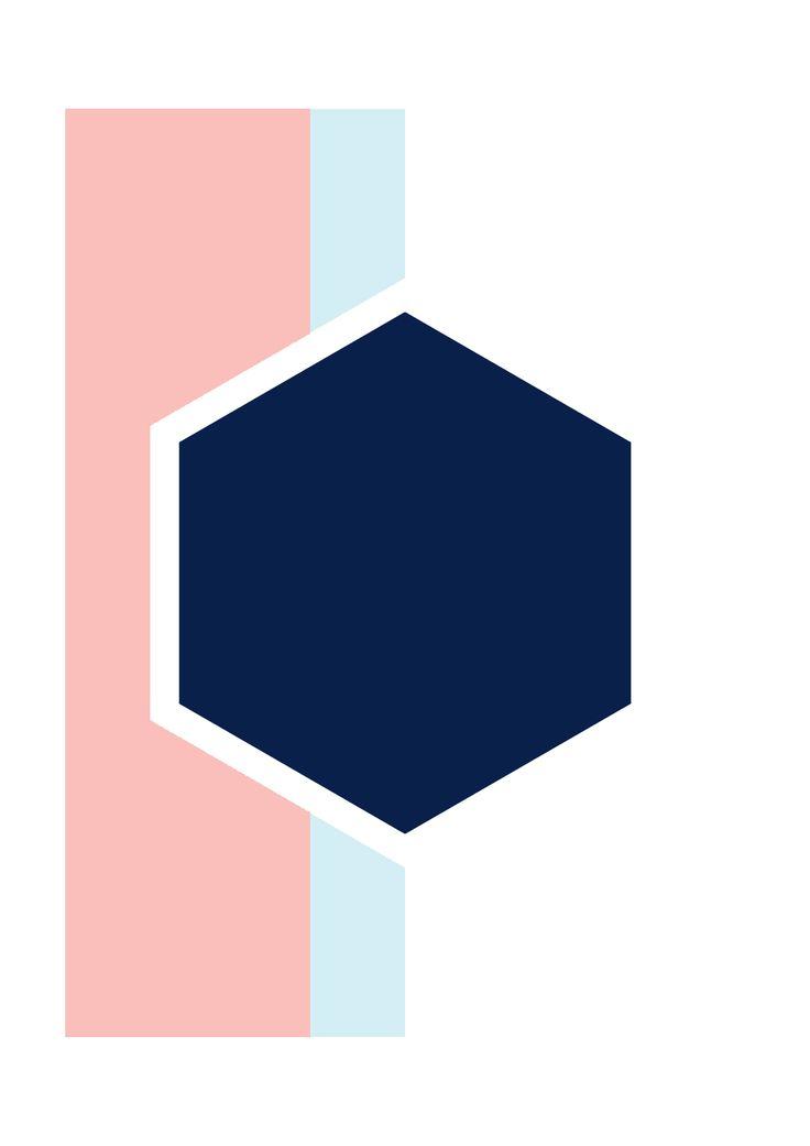 #contagiousdesignz  #navy #blue #white #prints #design #hexagon #pastel #pink