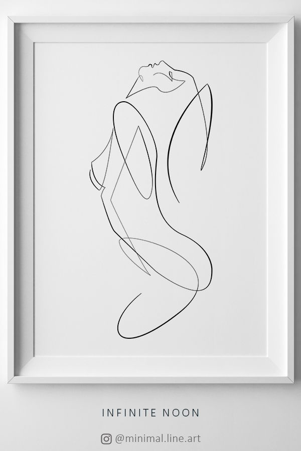 Erotic Body Print, Woman Abstract Art, Body Figure Printable, One Line Drawing Print, Nude Body Art, Female Figure Sketch, Minimal Line Art