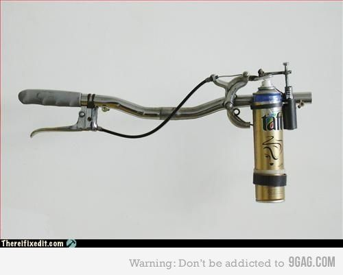 Homemade flame thrower? Yes please!