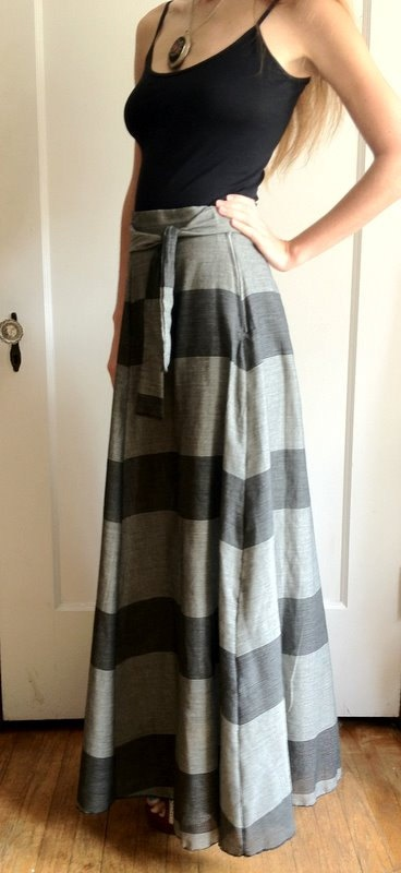 4 gore Maxi Skirt High Waist by temerson1 on Etsy, $45.00