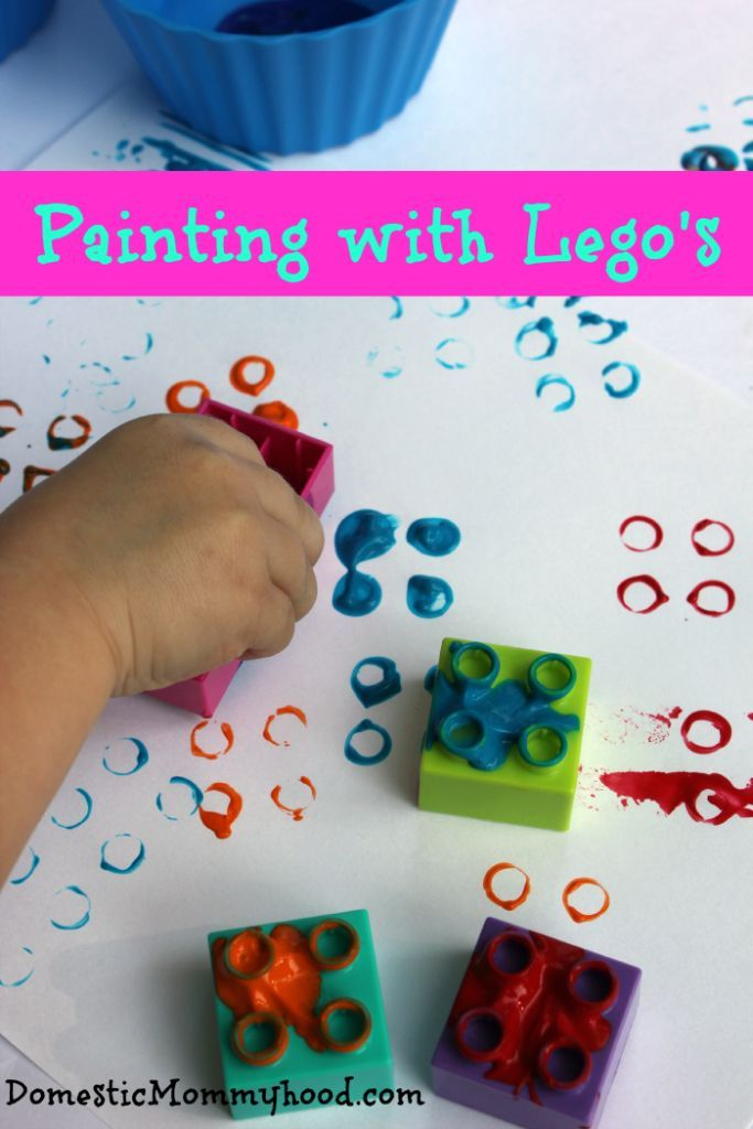 Kids Activity: Painting With Lego's