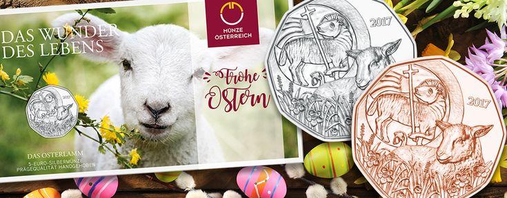 Das Osterlamm – Österreich 5 Euro 2017 in Silber oder Kupfer. Neue Münz-Bestseller mit christlicher Symbolik