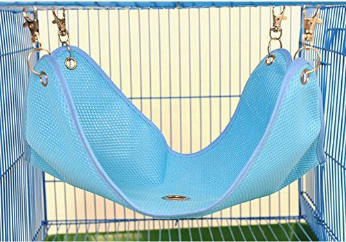 Cool Mesh Hammock Bed House for Pet Syrian Hamster Gerbil Rat Mice Chinchillas Guinea Pig Squirrel Small Animal Cage