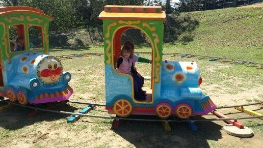Train fun on the farm