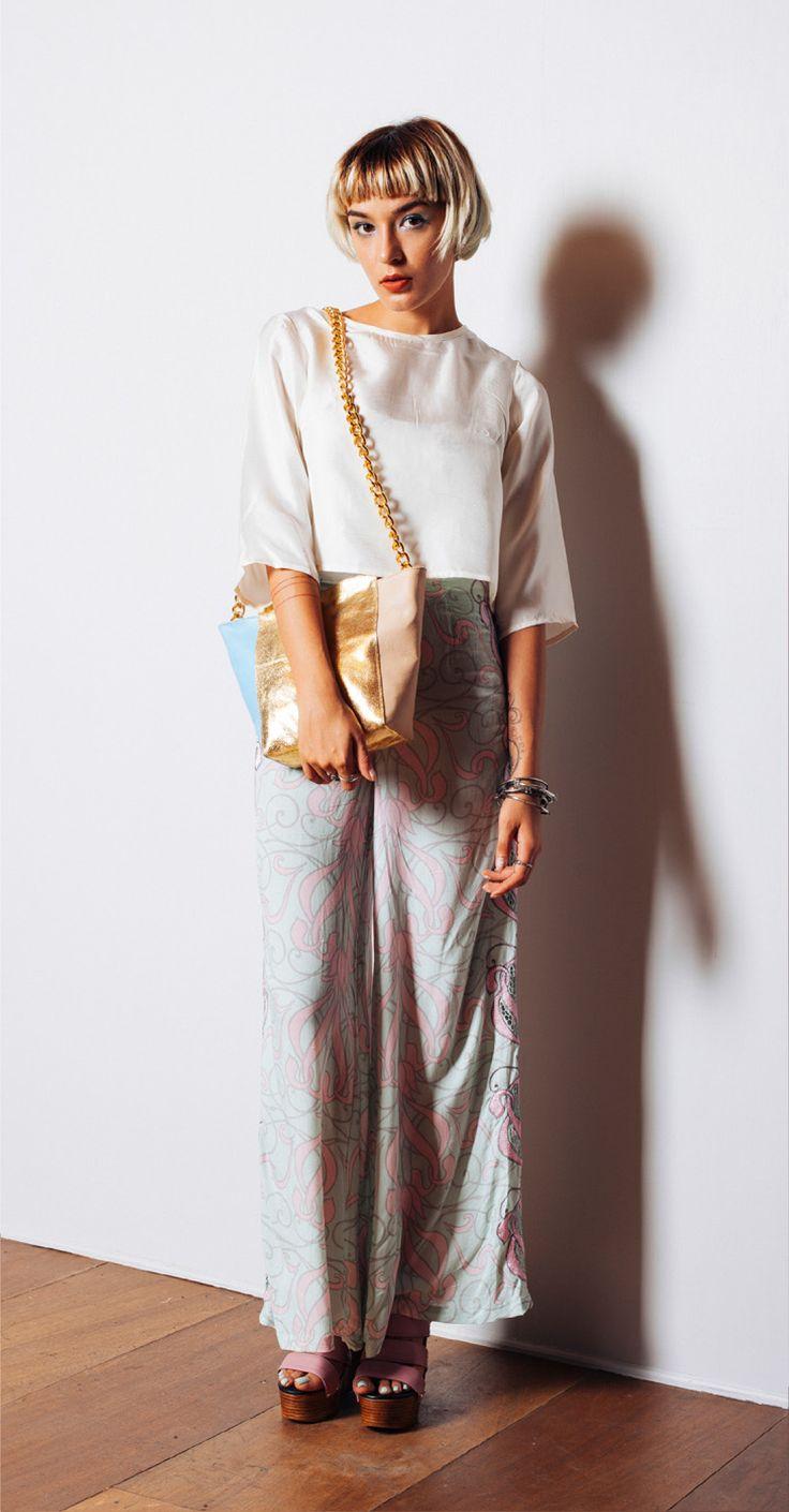 Maidenlove 'Marni' top, 'Talia' pants, 'Caroline' bag and 'Freedom' wedges http://www.maidenlove.net/