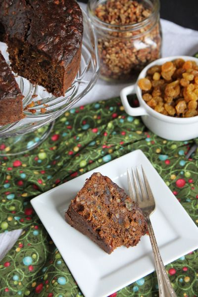 Holiday cake filled with dried fruit, nuts, and spices. It's the perfect cake to share with friends this Christmas season!