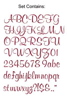 4' Script Letter Stencil Templates | Click on image for a larger view of stencil design