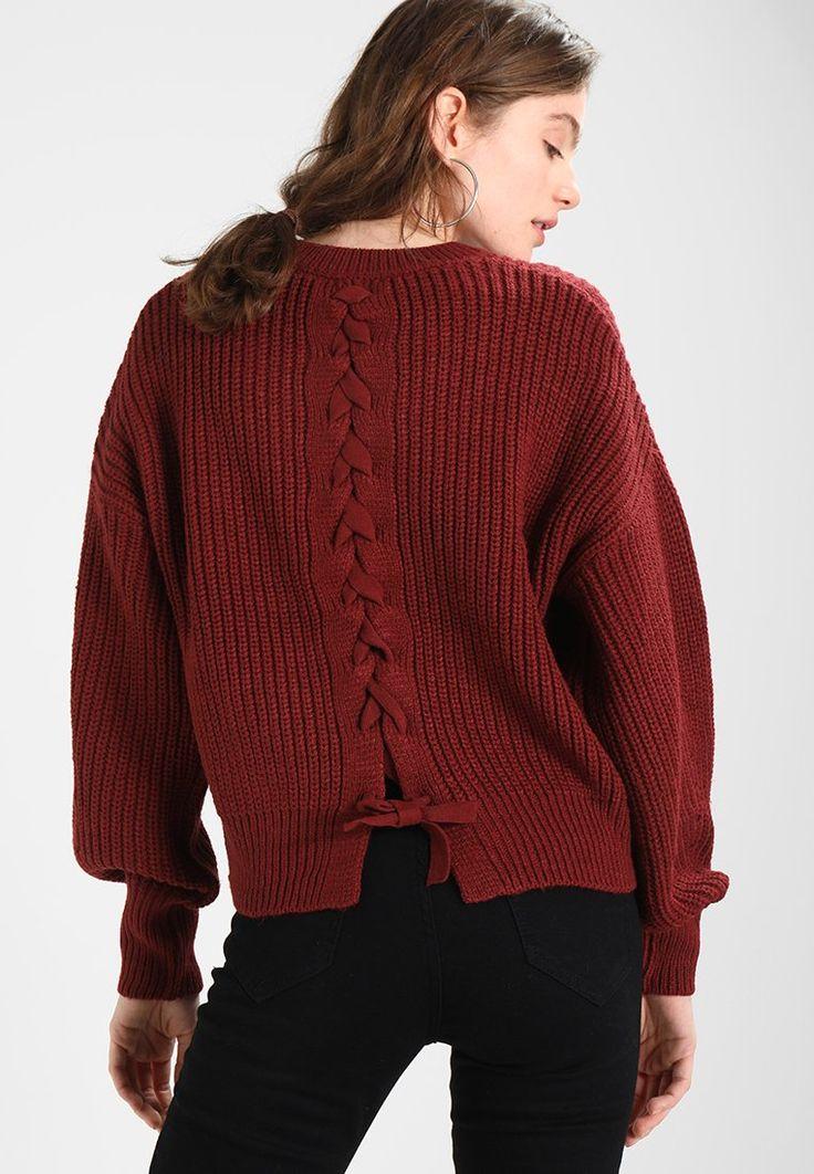 New Look FASHIONED BACK JUMPER - Jersey de punto - iron red - Zalando.es