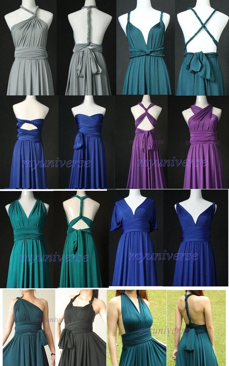 Unique Maxi Dress Infinity Dress Wrap Convertible Dress Red Bridesmaid Dress Formal Wedding. $99.00, via Etsy. grey or black