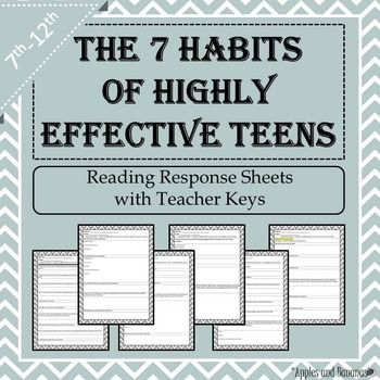 48 best esls images on pinterest student centered resources 7 habits of highly effective teens reading response shee middle school fandeluxe Images