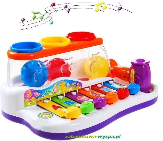 Cymbałki edukacyjne, które uczą muzyki, kolorów i kształtów. Dla dzieci 1+