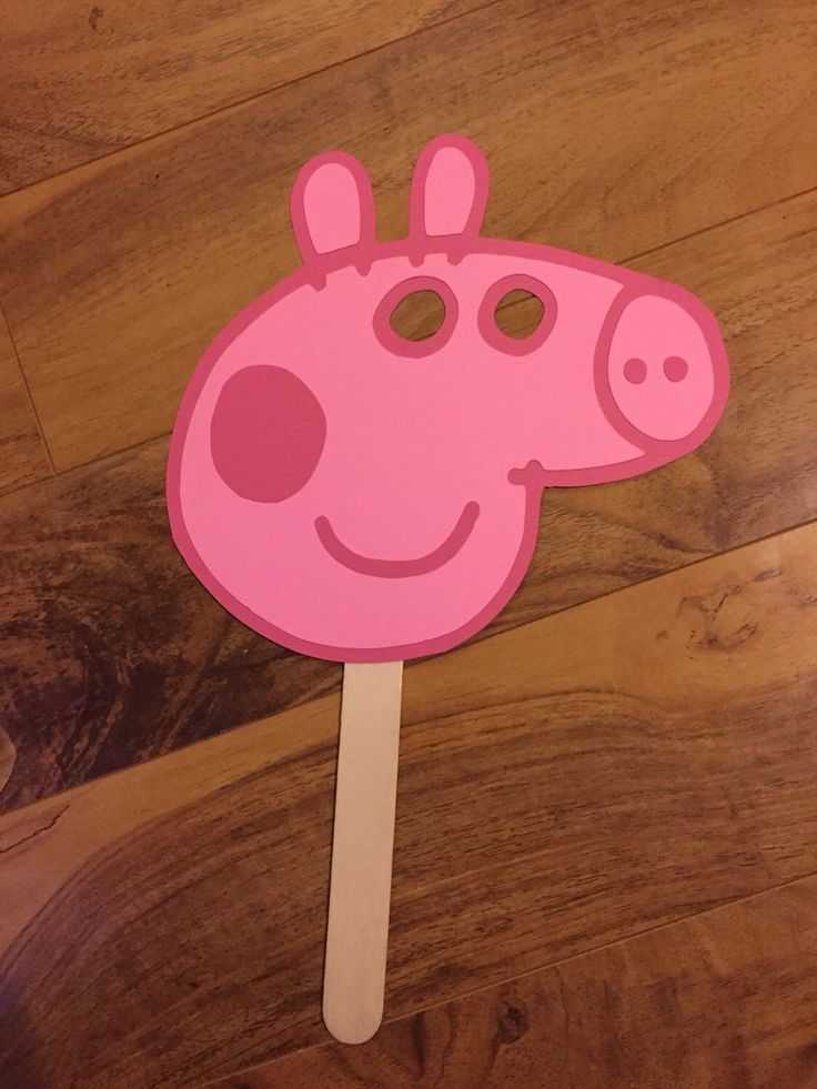Peppa pig party favor mask!!