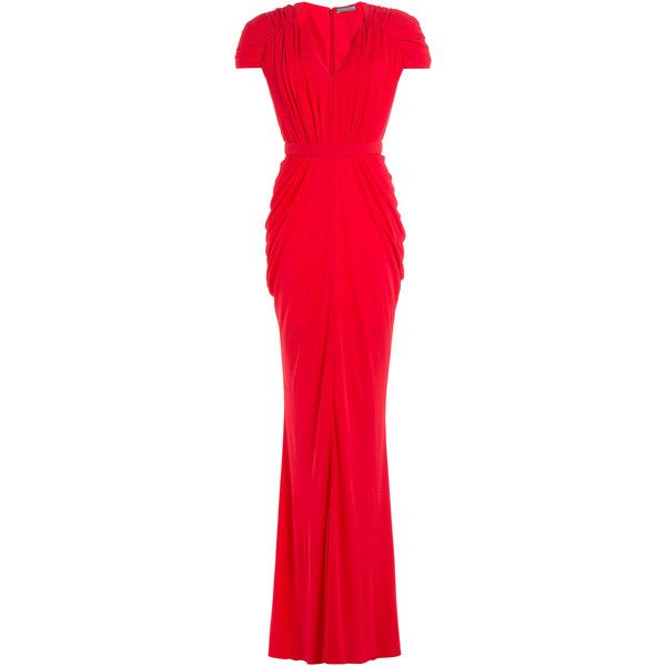Alexander McQueen Floor Length Gown ($2,205) ❤ liked on Polyvore