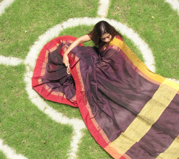 Pure Linen #Saree