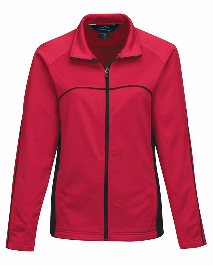 Womens #fleece Full Zipper w/#raglan sleeves (100% #Polyester). Tri mountain FL7356