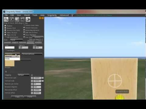 Media on a prim tutorial for OpenSim and SOAS - YouTube