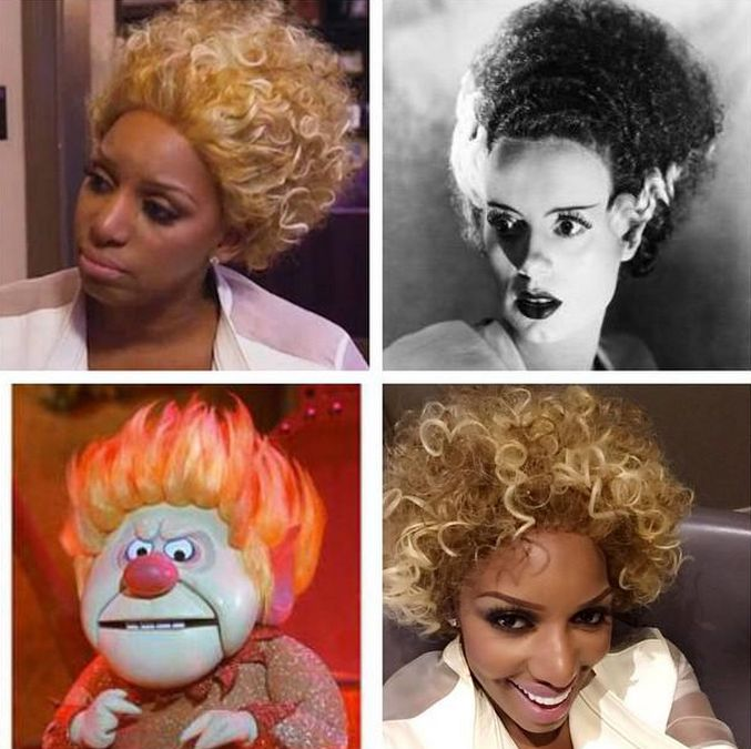 """Speaking of bulls in a china shop, Nene is arriving at Phaedra's home sporting her wig from the Heat Miser collection.  #BishStoleHisLook.  Even Ayden shades Nene and asks """"how are those made."""" The nanny laughs and... Please read more and give your thoughts at: http://allaboutthetea.com/2015/03/16/real-housewives-of-atlanta-recap-s7e17/"""