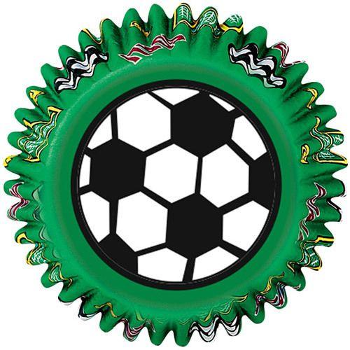 Capsulas para cupcakes decoradas con motivos de #futbol