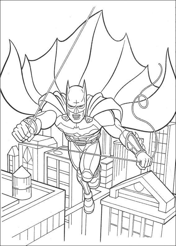 Batman Flying Coloring Page This Is Available For Free In BATMAN Pages