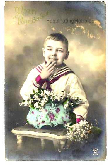 Vintage 1912-BOY-Lucky LILY of the VALLEY in by FascinatingHobbies