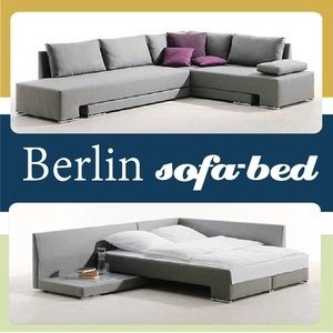 Just Home Furniture - Berlin Sofa Bed Call us on 0100 472 5858