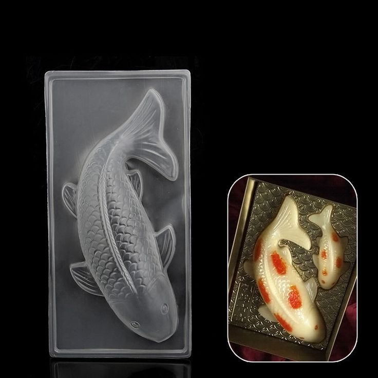 Details about 3d plastic koi fish cake chocolate mould for Koi fish mold