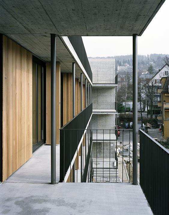 Gret Loewensberg /// hinterbergstrasse housing building @ Zürich, Suisse