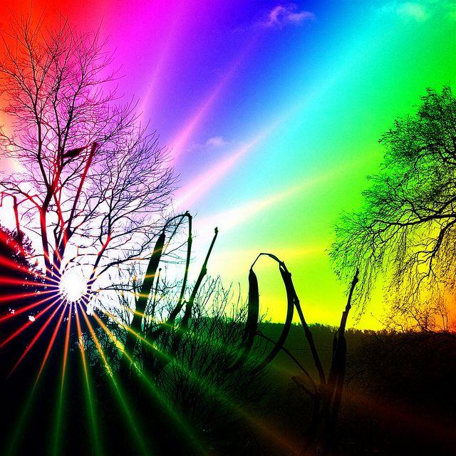 beautiful rainbow colors