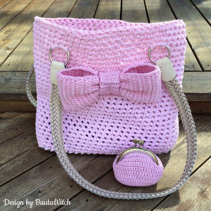 Väska och matchande portmonnä by BautaWitch Gratis mönster i min blogg! Garn och tillbehör i min webbshop!