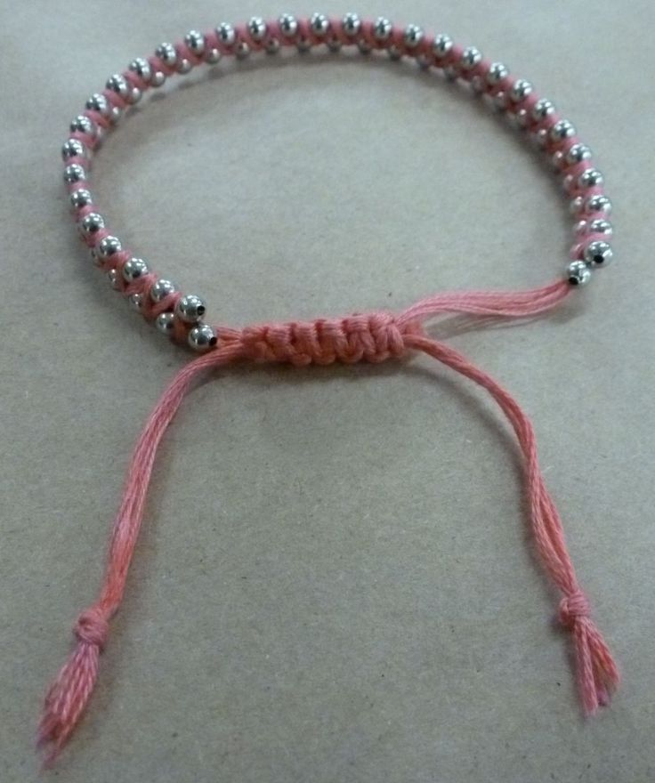 """tutorial is a fun bracelet made with embroidery floss and ball chain! You Need: 12"""" of ball chain ..."""