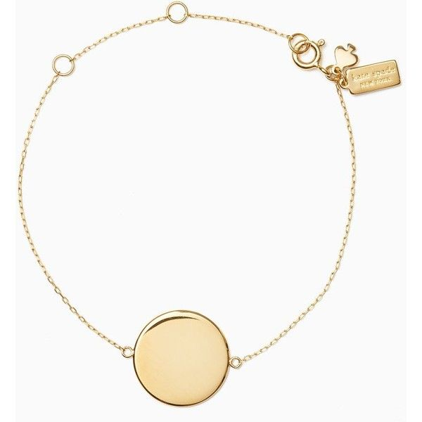 Kate Spade You Name It Round Line Bracelet ($128) ❤ liked on Polyvore featuring jewelry, bracelets, kate spade bangle, kate spade pendant, letter jewelry, initial pendant and engraved jewelry