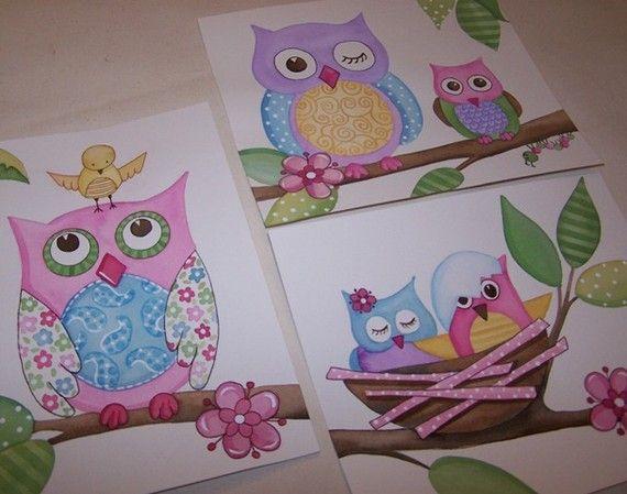 .: Woodland Baby, Kids Nurseries, Kids Prints, Art Prints, Owl, Baby Art, Nurseries Art, Art Kids, Girls Rooms