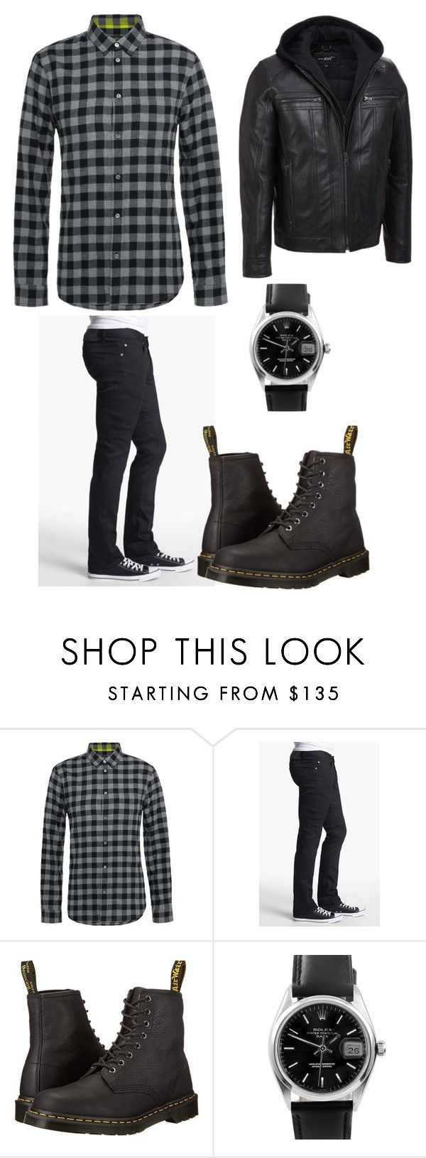 """""""Choices Oliver"""" by sara-scott-i on Polyvore featuring Marc by Marc Jacobs, Naked & Famous, Dr. Martens, Rolex, men's fashion and menswear"""