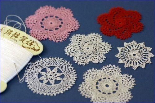 needle made lace doily