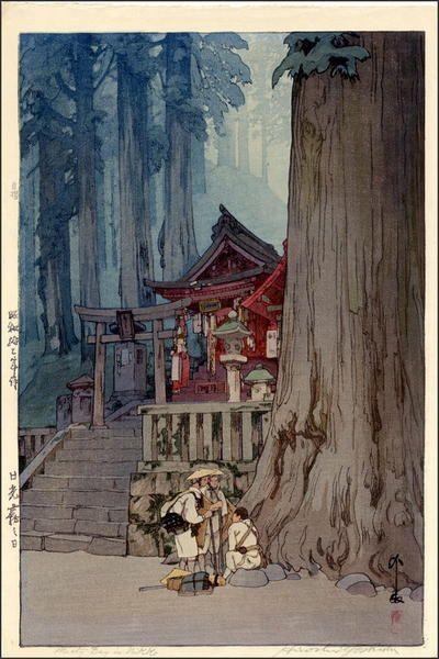 Misty Day in Nikko by Yoshida Hiroshi (1876-1950)