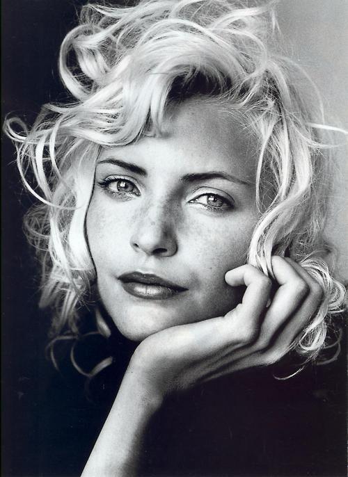 Nadja Auermann --- Photography - Portrait - Close-up - Black and White