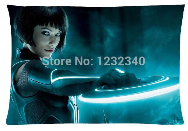 Прохладный Наволочка Tron Legacy Оливия Уайлд Прохладный Стиль Наволочки (Две Стороны) (20x30 Inch)