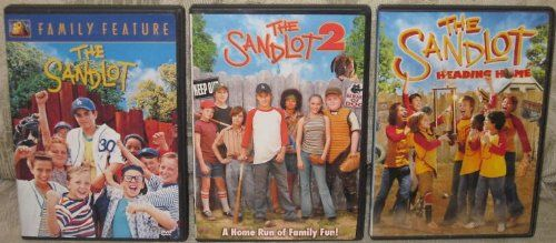 """Get all three adorable SANDLOT movies in one purchase! """"The Sandlot"""", """"The Sandlot 2"""" and """"The Sandlot: Heading Home"""" are all about fun times, baseball and hitting a home run in the game of life!"""