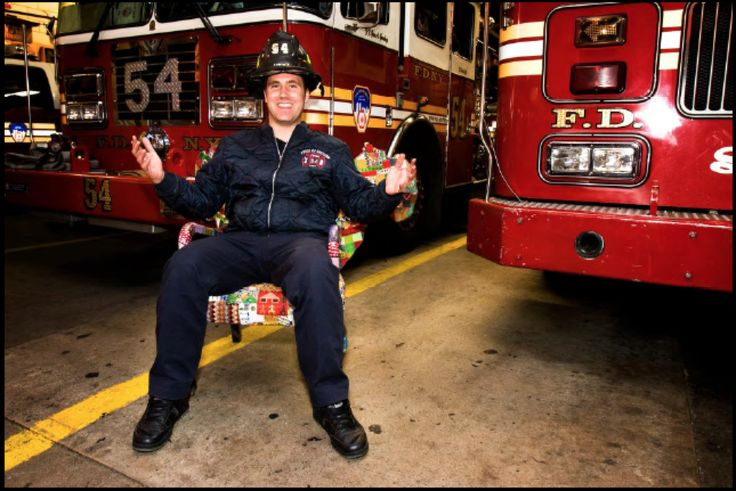"""Photographer Dominic Ronzo """"Dreams of safety of firemen here and in South Africa"""" Shaun Cullen, New York fire-fighter 48thstreet Fire Department. Chair made by Woza Moya crafters. Hillcrest AIDS Centre Trust  www.hillaids.org.za"""