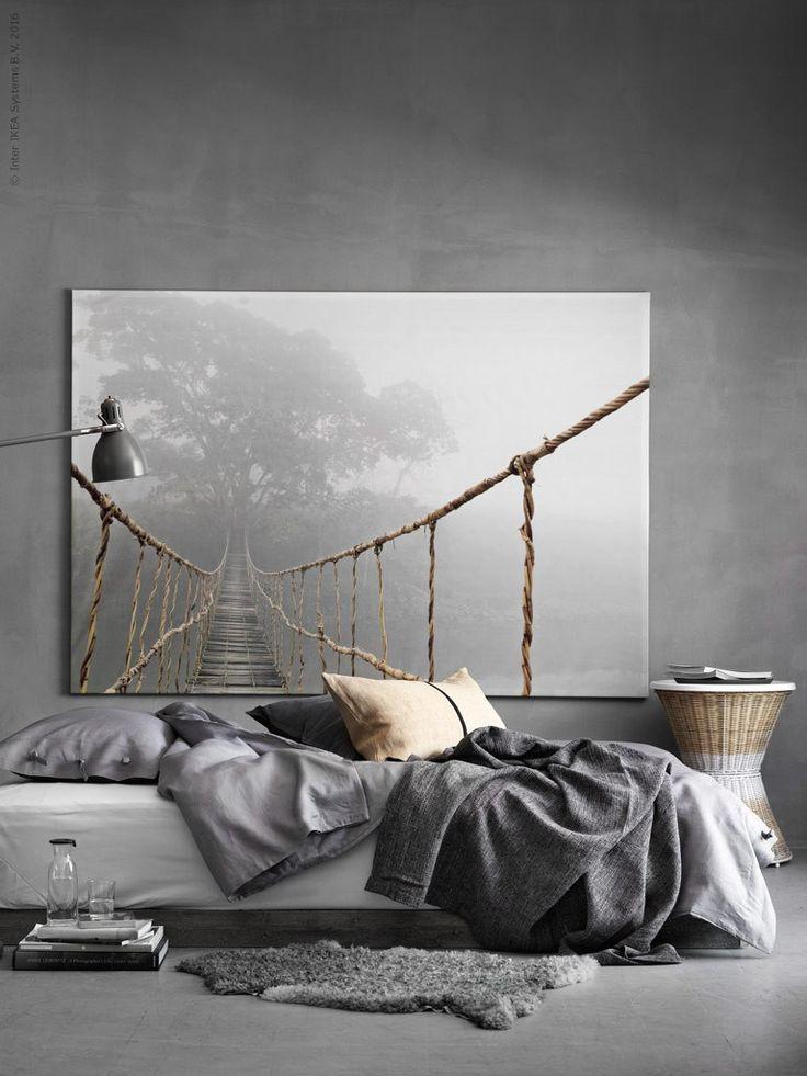 Idée: composer les couleurs de la chambre autour d'un grand tableau; ce-là donne de la profondeur à la pièce