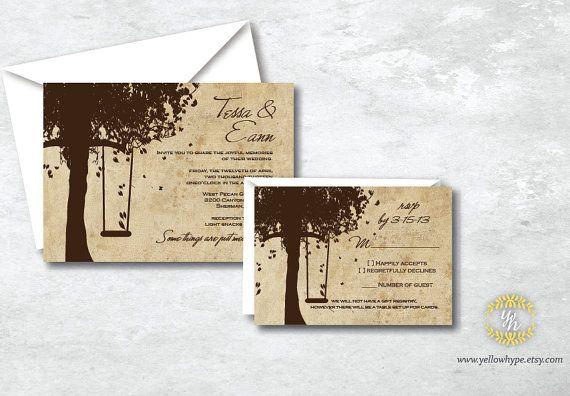 Outdoor wedding invitations YellowHype, $3.00