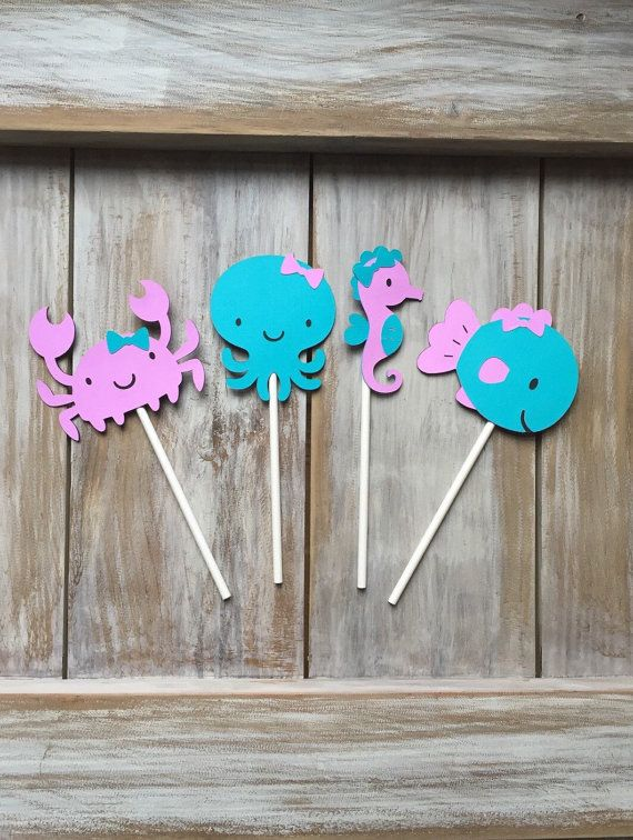 Under the Sea Cupcake Toppers Under the Sea by EricasCrafties