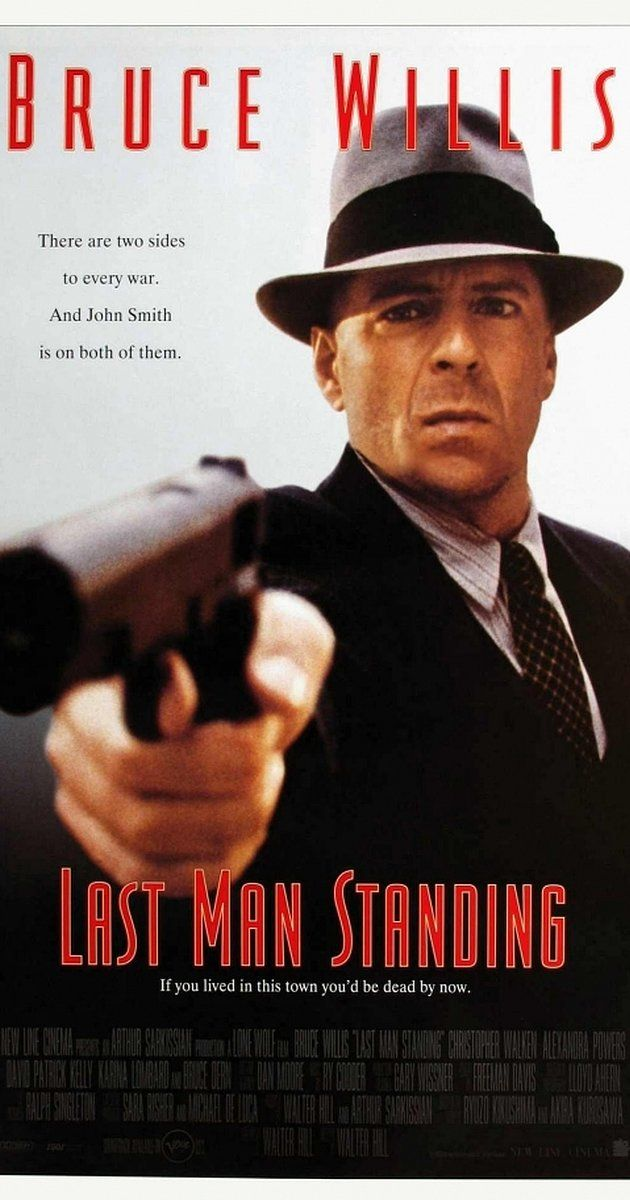 Directed by Walter Hill.  With Bruce Willis, Bruce Dern, William Sanderson, Christopher Walken. A drifting gunslinger-for-hire finds himself in the middle of an ongoing war between the Irish and Italian mafia in a Prohibition era ghost town.
