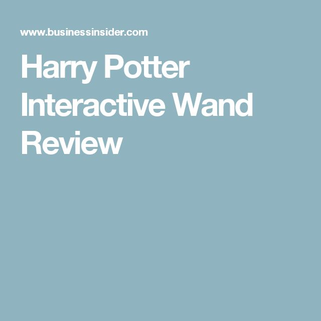 Harry Potter Interactive Wand Review