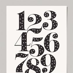 polka dot numbers. free download.